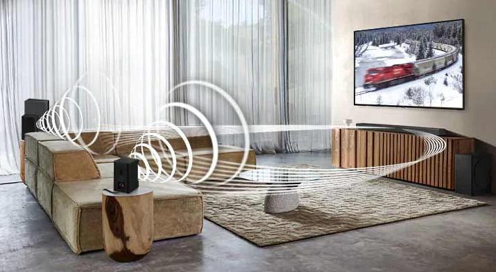 Soundbar Q60T EN - HW-Q60T EN z dźwiękiem przestrzennym Surround